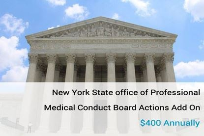 Picture of New York State Office of Professional Medical Conduct Board Actions data
